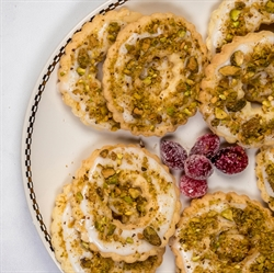 Picture of Pistachio Wreath Cookies
