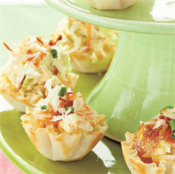 Picture of Mango Shrimp in Wonton Cups
